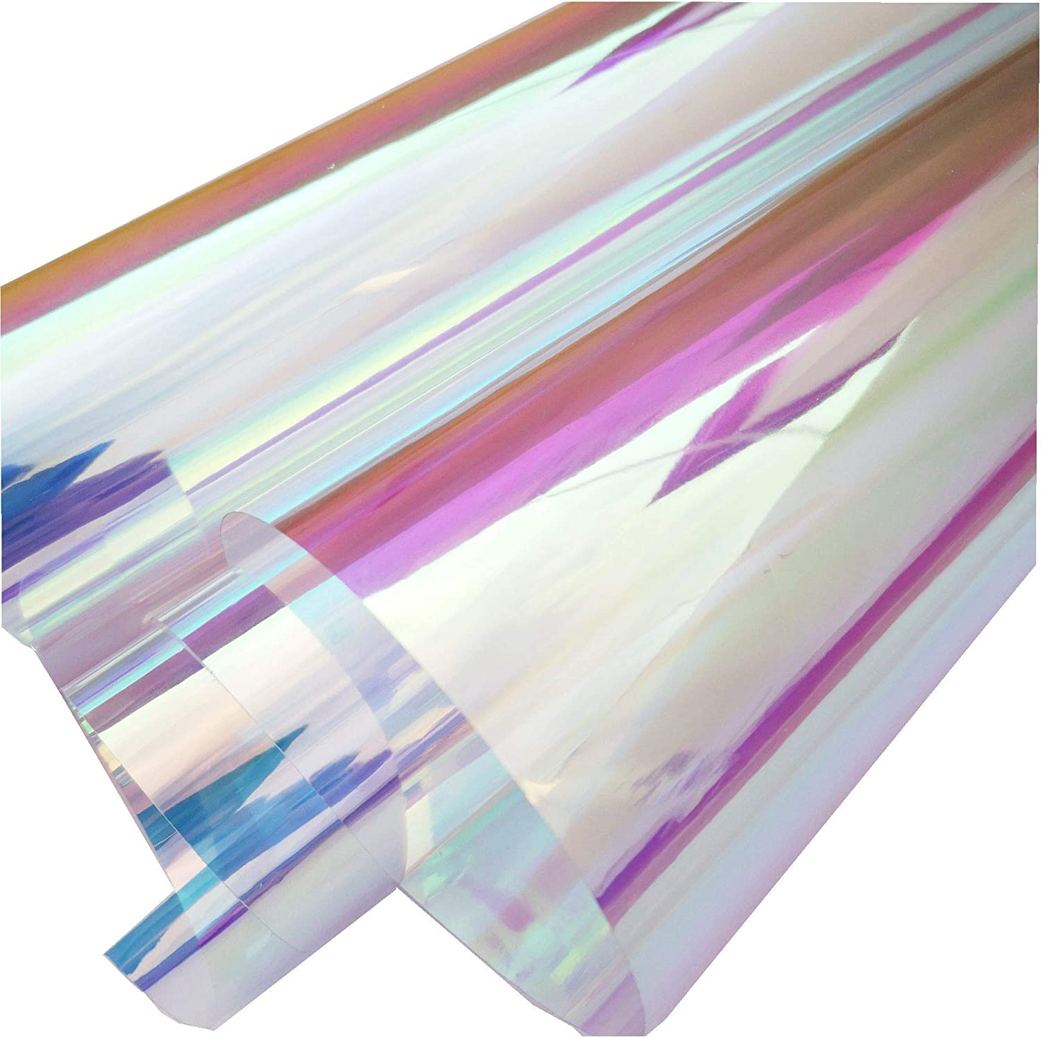 Transparent Iridescent Pvc Sheet Cosplay Performance Accessories Holographic Waterproof Synthetic Leather For Party Decoration 0 1mm Thick 11 8x47 Amazon Ca Generic