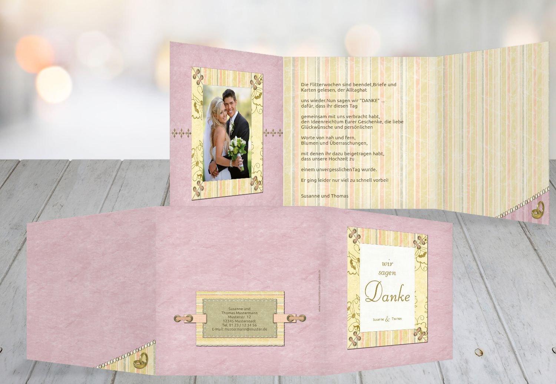 Kartenparadies Danksagung für Hochzeitsgeschenke Hochzeit Dankeskarte Bund für's Leben, hochwertige Danksagungskarte Hochzeitsglückwünsche inklusive Umschläge   20 Karten - (Format  145x145 mm) Farbe  OckerBeige B01N36G8XK   Berüh