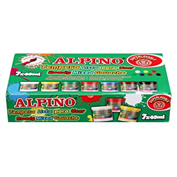 Alpino DM000921 - Set de temperas de 7 unidades (de 40 ml ...