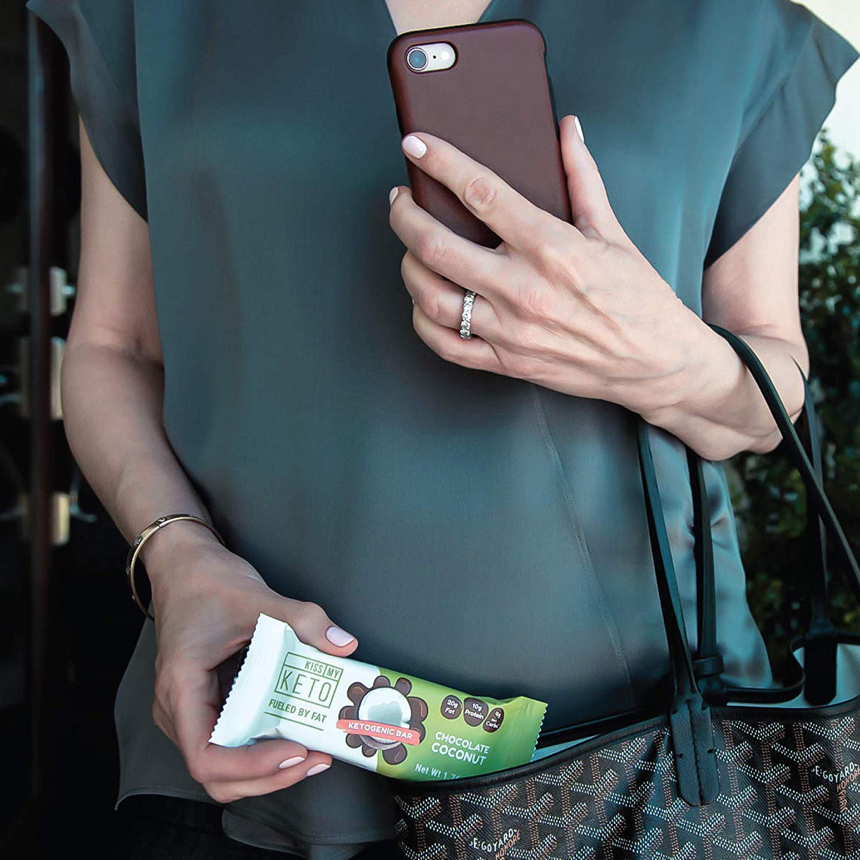 Kiss My Keto Snacks Keto Bars - Keto Chocolate Coconut, Nutritional Keto Food Bars, Paleo, Low Carb/Glycemic Keto Friendly Foods, All Natural On-The-Go Snacks, Quality Fat Bars, 4g Net Carbs by Kiss My Keto (Image #7)