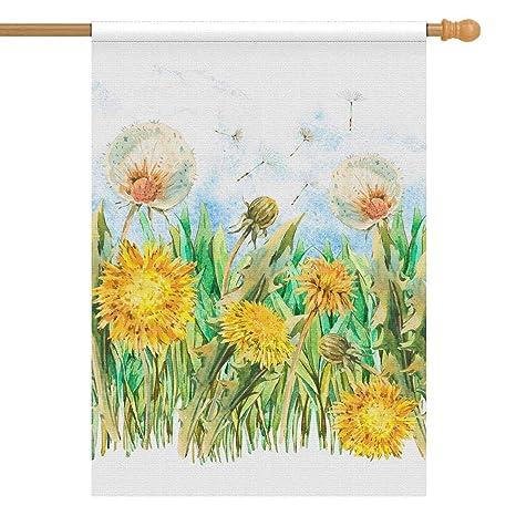 Amazon Interestprint Watercolor Spring Flowers Yellow White