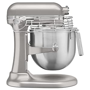 KitchenAid KSMC895NP 8-Quart Commercial Countertop Mixer with Bowl-Guard, 10-Speed, Gear-Driven, Nickel Pearl