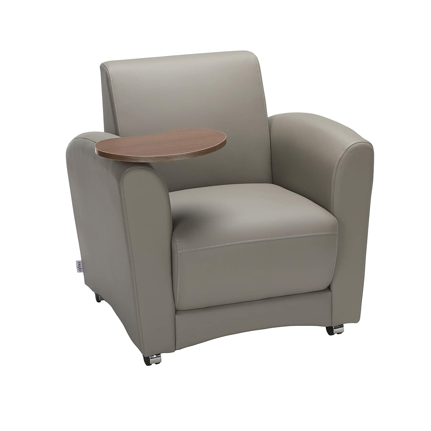 OFM Core Collection InterPlay Series Single Seat Chair with Bronze Tablet, in Taupe (821-PU607-BRONZ)