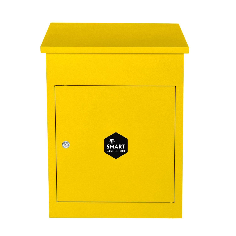 Smart Parcel Box Bo/îte aux lettres colis moyenne Bleue /à acc/ès frontal en acier