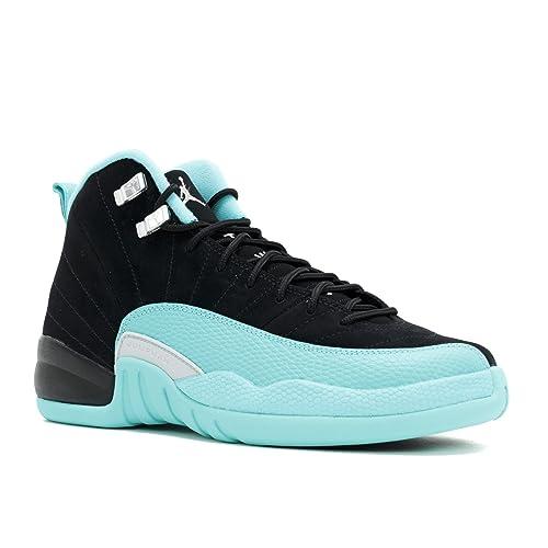 75f12114350126 Nike Mens Air Jordan 12 Retro Gamma Blue Leather Basketball Shoes