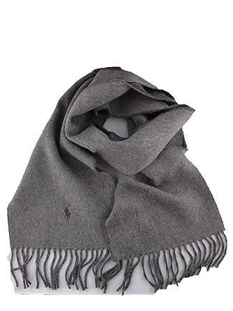 26de51efd1cd Ralph Lauren Herren 449679498002 Grau Wolle Schal  Amazon.de  Bekleidung