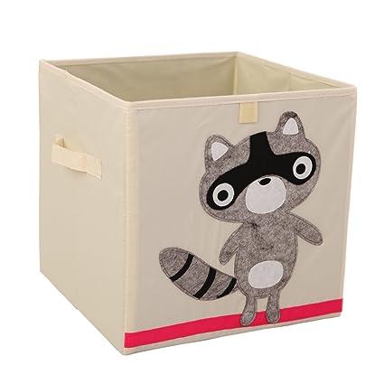 Storage Bins Foldable Cube Box   MURTOO   Eco Friendly Fabric Storage Cubes  Origanizer For Kids