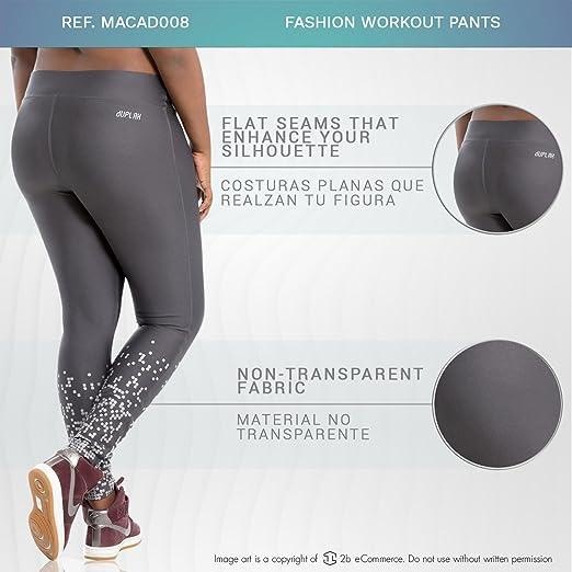 6a45b0f60dee7 Duplah Macadamia Womens Fashion Workout Pants Leggings Plus Size Ropa  Deportiva at Amazon Women's Clothing store: