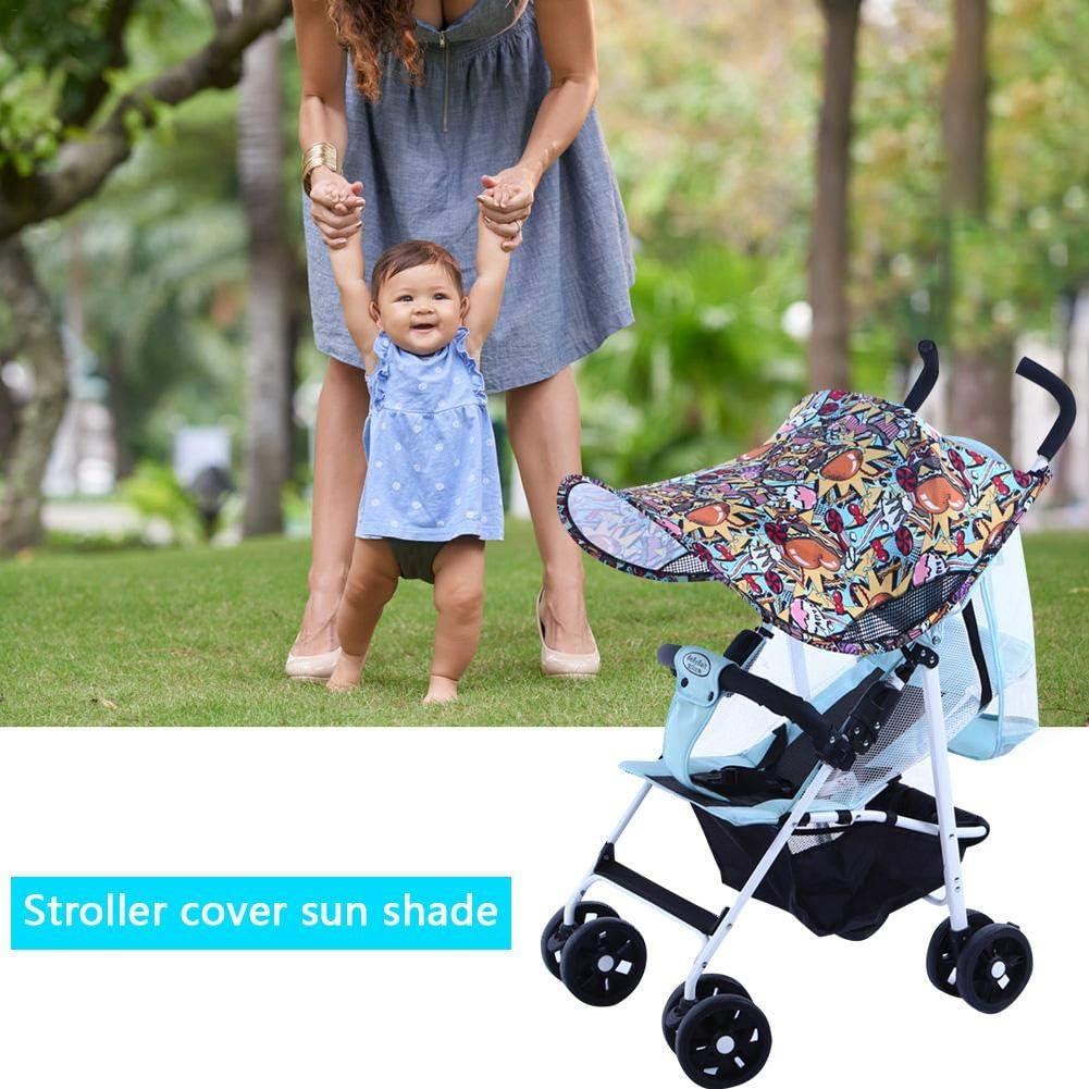 Sonnenschirm f/ür Kinderwagen AITOCO Baby-Sonnenschirm breiter Sunblock universell Kinderwagen und Autositz UV-Schnitt