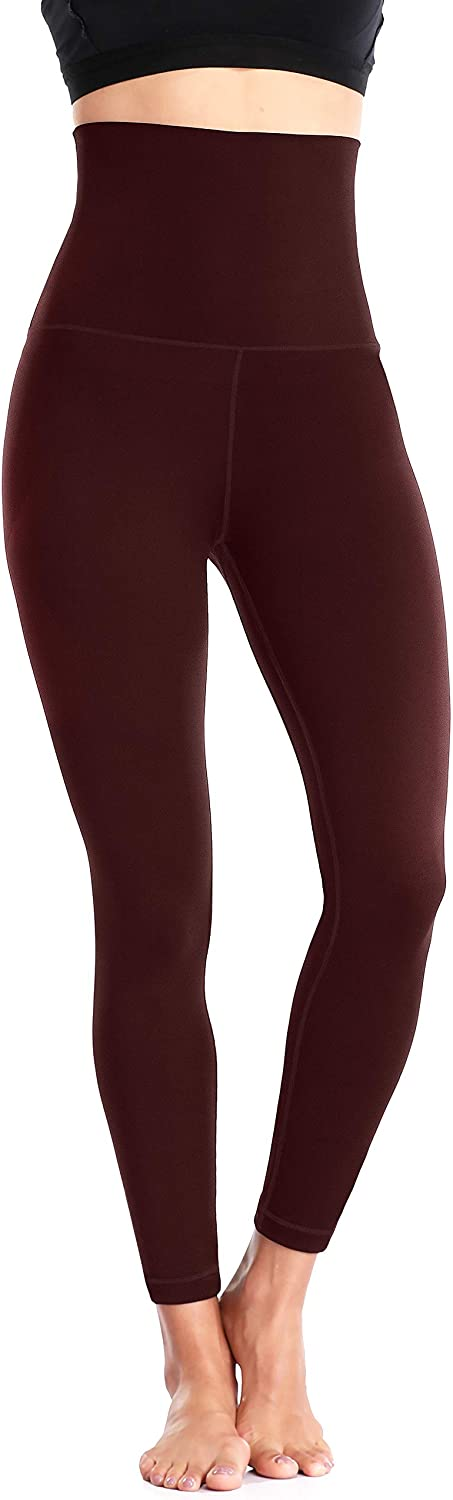 Sociala Womens 7//8 Leggings with Pockets Workout High Waist Yoga Pants Butt Lift Tummy Control Tight