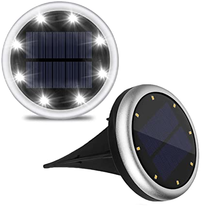 in ground lighting. lifebee solar lights outdoor in-ground lights, 8 leds powered  pathways lawn in ground lighting