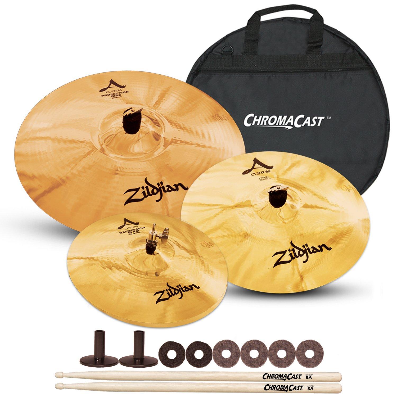 Zildjian A Custom Artist Cymbal Pack with ChromaCast Cymbal Bag