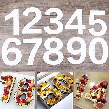 Molde de plástico para tartas de 0 a 8 números, para decoración de pasteles, herramientas de pastelería de horneado talla única 12inch: Amazon.es: Hogar