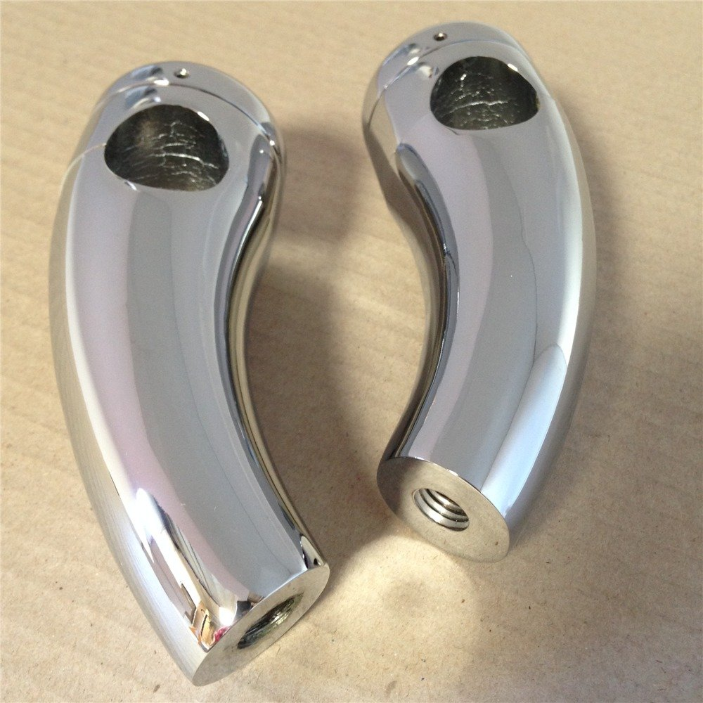 B00YWCEPW6 XKMT-1 Handlebar Risers Compatible With Harley Cruisers Choppers Metrics Victory Chromed