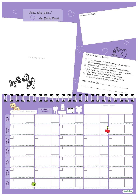 mein erstes Jahr inkl farbmix babylogbuch Aufkleberset Baby-Kalender//Baby-Tagebuch Geschenk