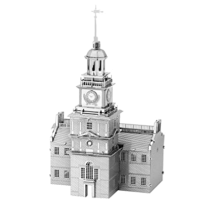 Fascinations Metal Earth Independence Hall 3D Metal Model Kit: Toys & Games