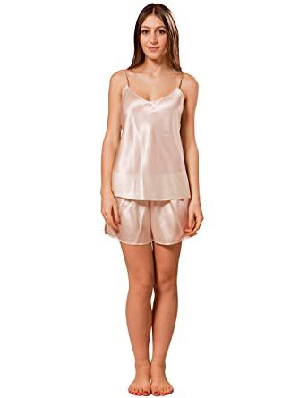 ElleSilk Women s 100% Pure Silk Pyjamas Set 3cb59c384