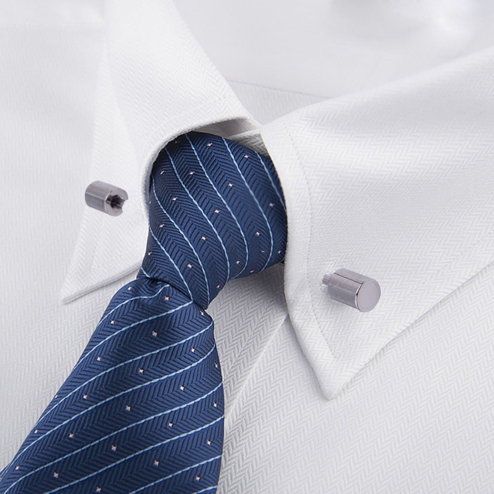 OBONNIE 3PCS Men's Collar Bar Pins Shirts Tie Pins Necktie Cravat Pin Collar Brooch with Gift Box by OBONNIE (Image #9)