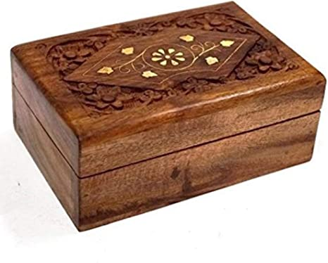 Jewellery Wooden Shabby Chic Vintage Display Box Trinket Display