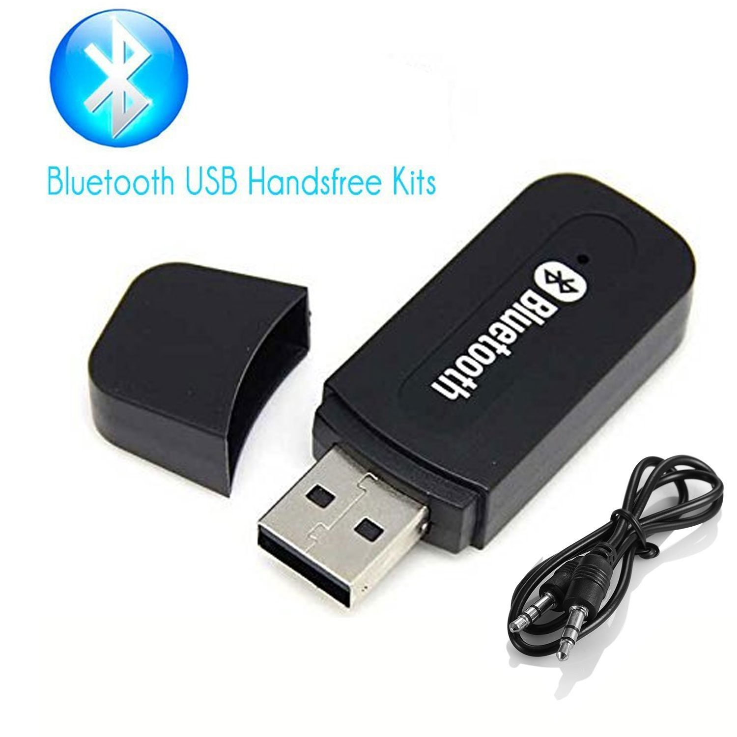 Bluetooth Adapter Receiver, Annbully Car Kit Mini USB Wireless Audio Adapter Bluetooth Music Receiver & Adapter Home /Car Phone iPhone Stereo Speakers Headphones Car (AUX In) Music Sound System