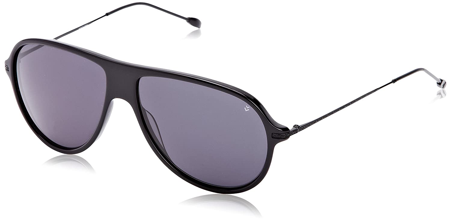 5465edb0790 Amazon.com  John Varvatos Men s V778 V 778 Black Retro Sunglasses 59mm   Clothing