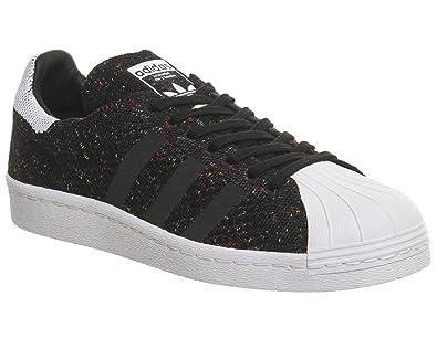 f8256ca88e7 adidas Superstar 80 s Primeknit Homme Baskets Mode Noir  Amazon.fr ...