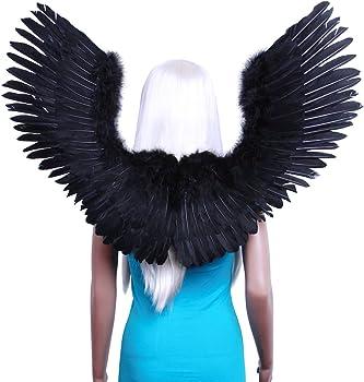 FashionWings White Open Swing V Shape Costume Feather Angel Wings Adult Unisex
