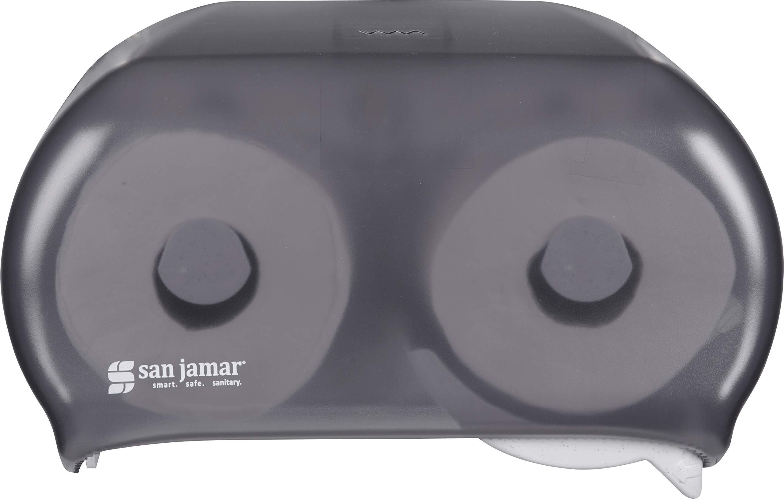 San Jamar R3600TBK Versa twin Dual Bath Tissue Dispenser, 1.437'' Mandrel, Black Pearl (TTD105)