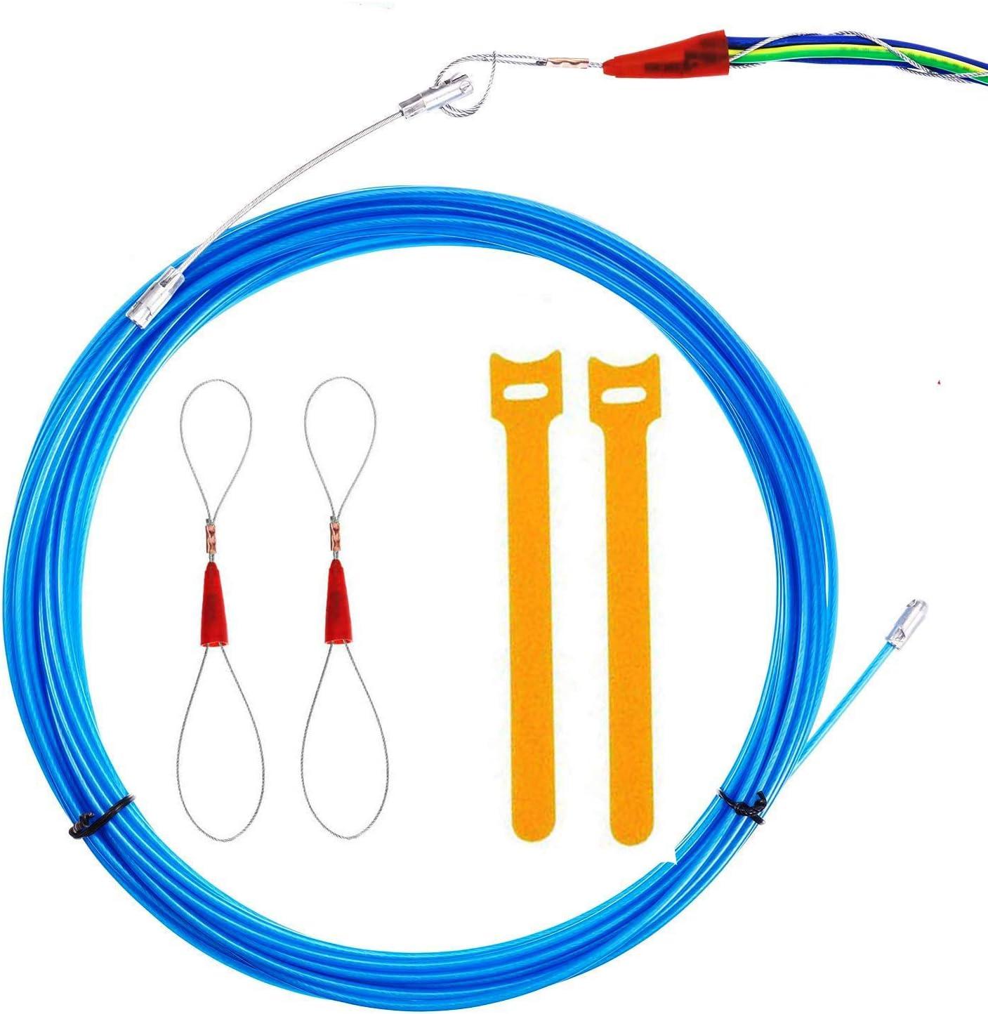 Einziehdraht,mit F/ührungsfeder /Öse Nylon 3.5 mm Kabel-Einziehhilfe 10m RUNCCI-YUN Einziehband Einziehdraht Kabel Einziehhilfe Kabeleinziehhilfe Draht
