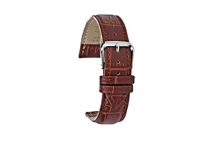 ateano本革バンド腕時計ストラップ留め金と梱包20 mmブラウン  B06WP4L6P5