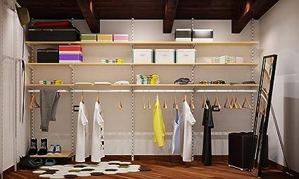 Cabina armadio guardaroba arredamento negozi appenderia ripiani KIT ...