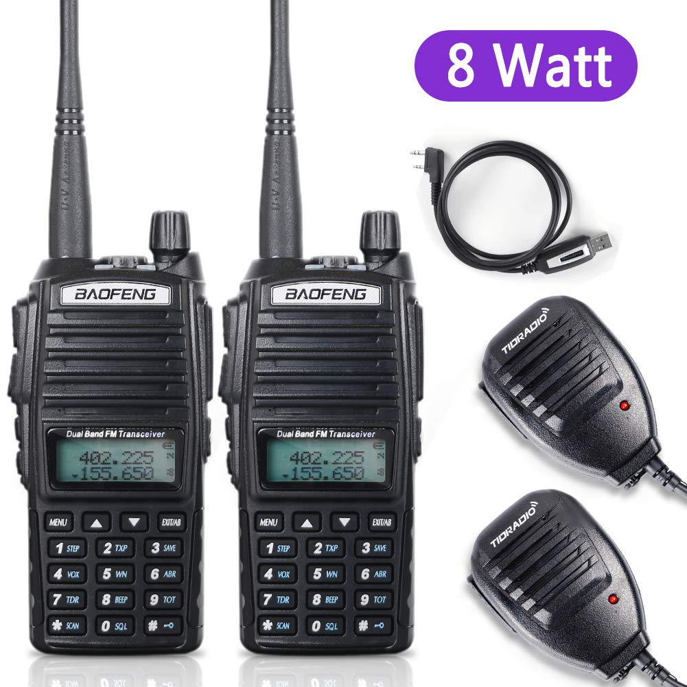 BaoFeng Radio BaoFeng UV-82 8W High Power Ham Radio Dual Band Amateur Walkie Talkies Portable 2 Way Radio 2Pack