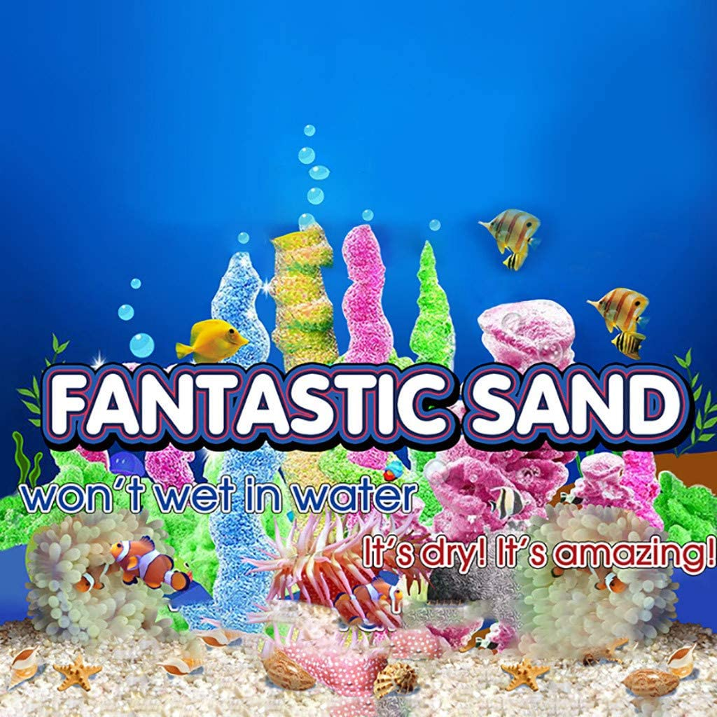 TriLance Creative Magic Sand 85g Water Not Wet Sand Shaped Sand New exotic toys Sand in the water Magic Sand Hydrophobic Sand Play Toys Any Child Favor Birthday Gift Toys
