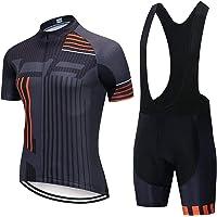 Fietsen Jerseys Set Cycling Wear Mountain Bike Kleding Fietskleding Set (Color : Black, Size : 3XL)