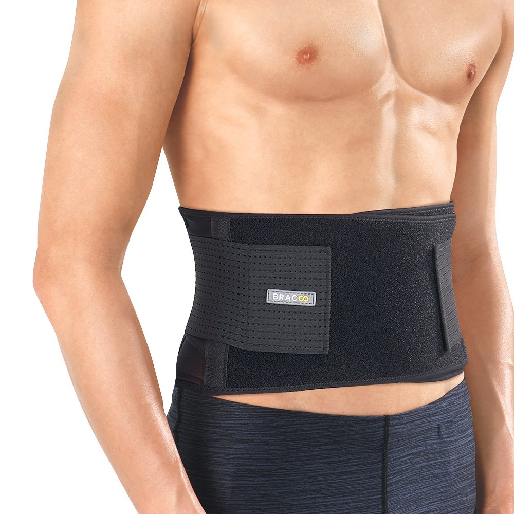 Bracoo Back Brace, Abdominal Support Belt for Sprains, Strains, Pain Relief & Posture Correction - Breathable & Ultra-Lightweight Stabilizers, Fulcrum (BS60), Large/X-Large by Bracoo