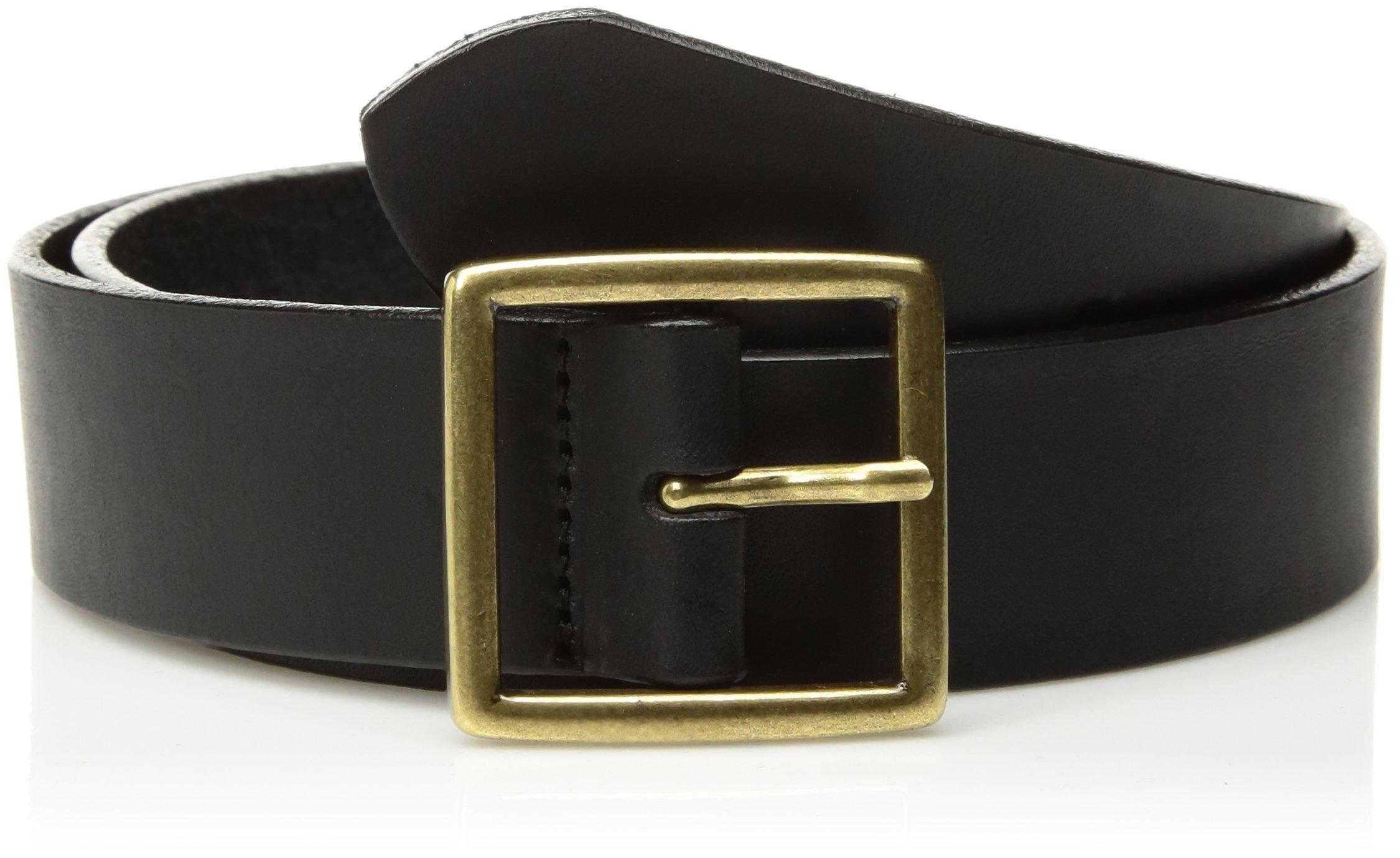 Circa Women's Handcrafted Italian Smooth Leather Belt, Black