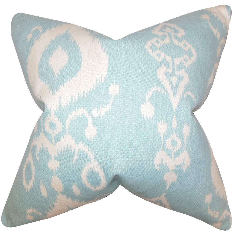 The枕コレクションKatti IkatブルーDown Filled Throw枕   B073KX995C