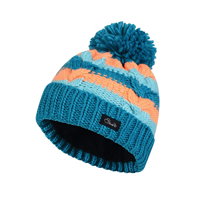 b67106954c6 Dare 2b Kids Childrens Candies Bobble Beanie Hat (3-6 Years) (Sea Breeze)   Amazon.co.uk  Clothing