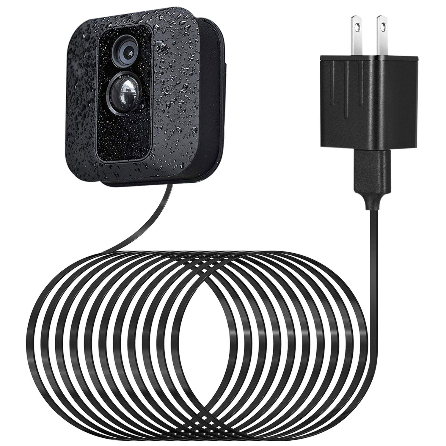 Power Adapter for Blink XT XT2 Outdoor & Indoor Camera, with 25 ft/7.5 m Weatherproof Cable Continuously Charging Blink Camera, No More Battery Changes - Black by ALERTCAM