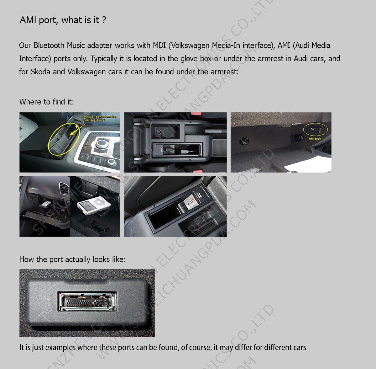 y compris iOS 11 c/âble audio pour Iphone6s adaptateur chargeur d/'interface musical 7,/7plus 8,/X avec syst/ème iOS Chelink C/âble adaptateur AUX pour syst/ème 3/G Audi AMI MMI