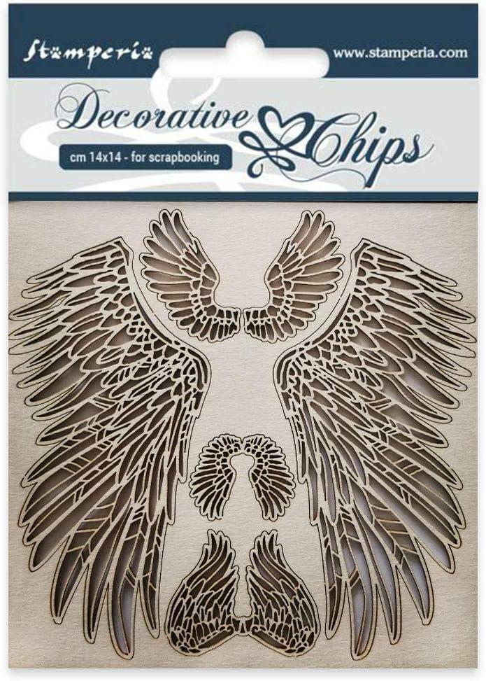 Multi-Colored Ailes Stamperia Decorative chips 14x14 cm