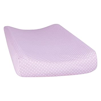 Amazon.com : Trend Lab Orchid Bloom Dot Changing Pad Cover, Purple : Baby