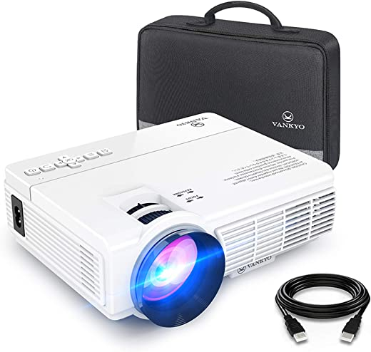 """VANKYO LEISURE 3 Mini Projector, 1080P and 170"""" Display Supported, Portable Movie Projector with 40,000 Hrs LED Lamp Life, Compatible with TV…"""