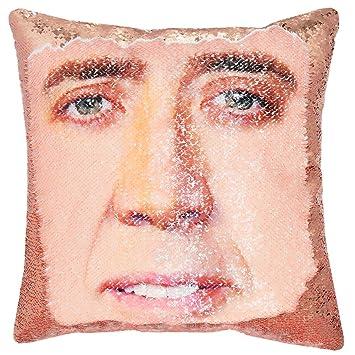 Amazon.com: URSKYTOUS - Funda de almohada reversible con ...
