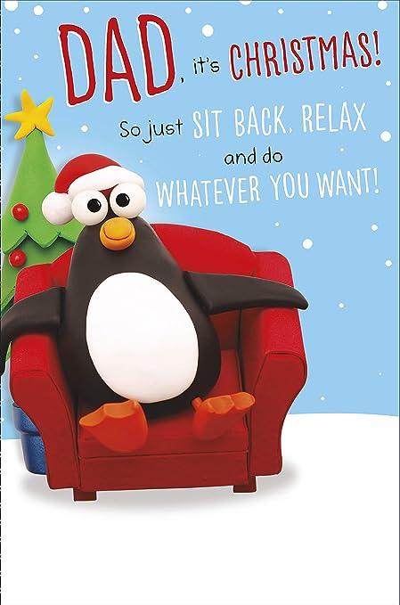 Hanson White Dad Sit Back Relax Carte de Noël humoristique 616413