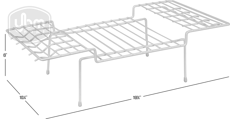 YBM HOME Wire Kitchen Counter Cabinet Helper Shelf, Shelf Storage Organizer White 2214 (1) Ybmhome