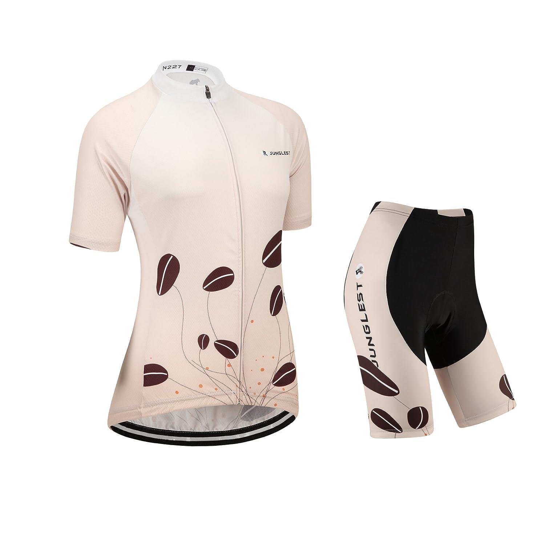 Cycling Jersey Setレディース半袖( S ~ 5 X L、オプション:よだれかけ、3dパッド) n227 B01BX3EISM (General pad)(Bust 43-45inchs)|種類: セット 種類: セット (General pad)(Bust 43-45inchs)