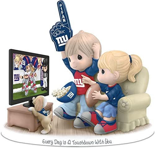 The Hamilton Collection Figurine Precious Moments Every Day is A Touchdown with You Giants Figurine