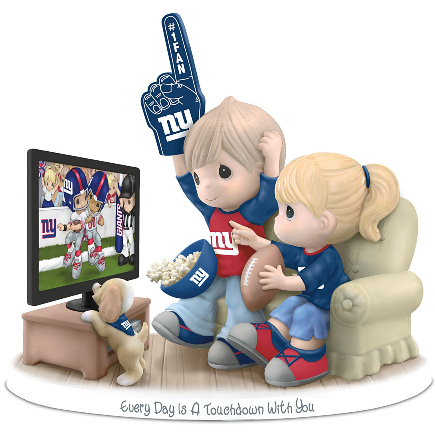 Figurine: Precious Moments Every Day Is A Touchdown With You Giants Figurine by The Hamilton Collection by The Hamilton Collection