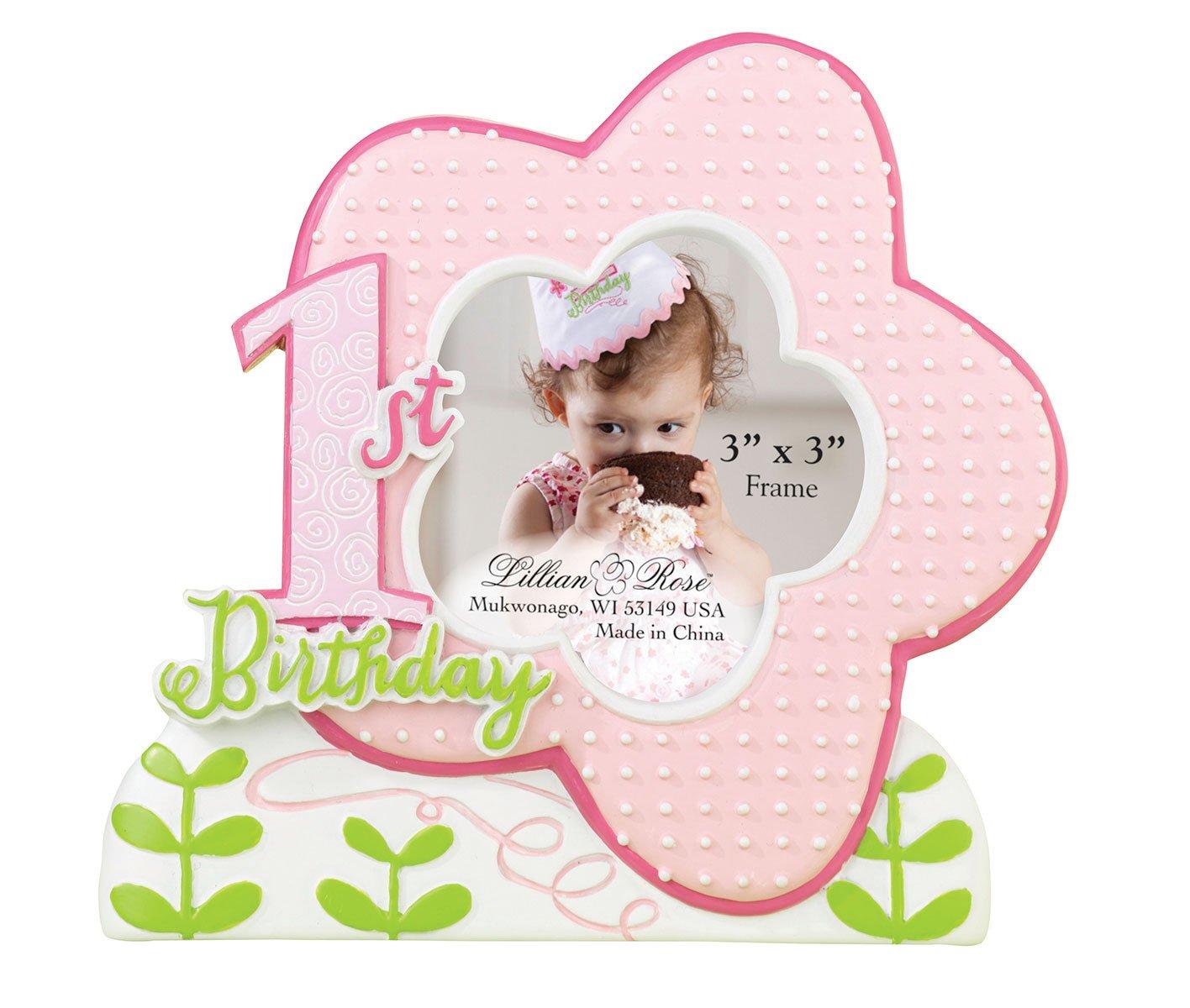 1. Geburtstag-Rahmen - Pink: Amazon.de: Baby